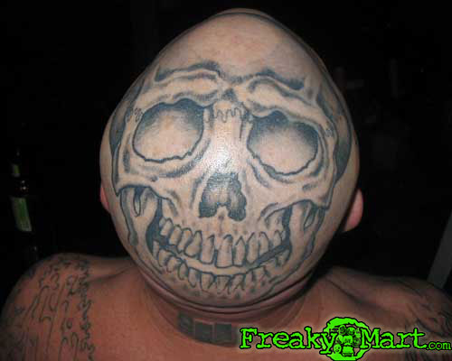 Bro you see my new skull tattoo Nah man where is it at