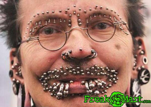 multiple face piercings