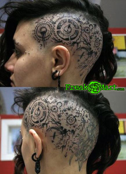 This is her good side freaky mart for Tattoos on side of head