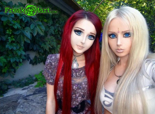 Human barbie dolls