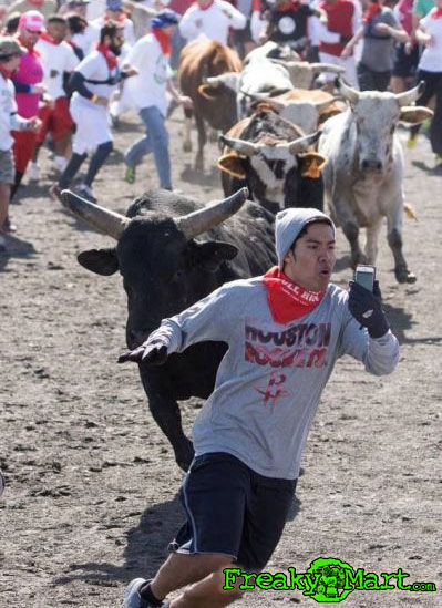 selfie-bull-run