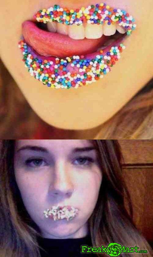 She totally nailed the candy lips!